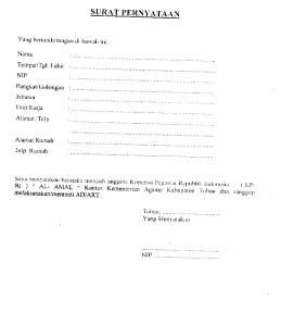 surat pernyataan koprasi